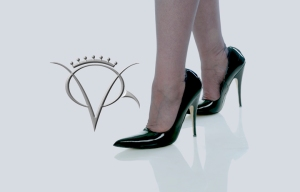 patent leather pumps with stockings